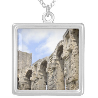 Antique Roman amphitheater's in Arles, 2 Silver Plated Necklace