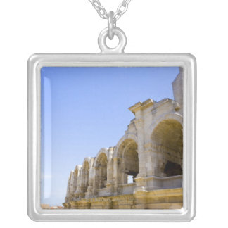 Antique Roman amphitheater's in Arles, Silver Plated Necklace