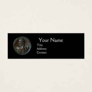 ANTIQUE ROMAN BRONZE MEDALLION MONOGRAM ,Black Mini Business Card