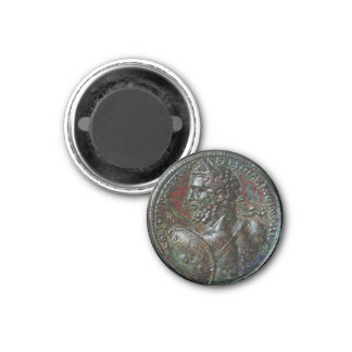 ANTIQUE ROMAN BRONZE MEDALLION SEPTIMUS SEVERUS MAGNET