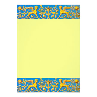 Antique roman pattern card