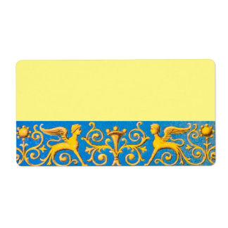 Antique roman pattern label