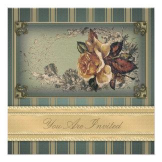 Antique Rose blue Invitation