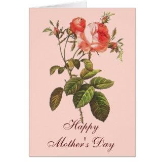 Antique Rose Botanical Mother's Day Card