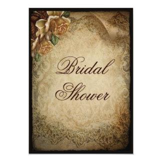 Antique Rose Damask Bridal Shower Card