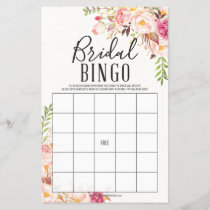 Antique Rose Double Sided Bridal Shower Games