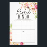 """Antique Rose Double Sided Bridal Shower Games Flyer<br><div class=""""desc"""">Get the party started with this fun DOUBLE sided Bridal Shower Bingo and What&#39;s On Your Phone Game!   Double the fun for the price of one!   Photo Booth Backdrop: https://www.zazzle.com/bridal_shower_backdrop_photo_prop_photo_booth_tapestry-256479834681555247   Recipe Card: https://www.zazzle.com/recipe_cards_antique_rose_bridal_shower_recipe-239859826319608293    Visit our website for more designs and inspiration: www.creativeuniondesign.com</div>"""