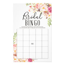 Antique Rose Double Sided Bridal Shower Games Flyer