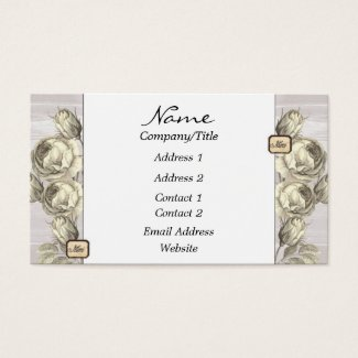 Antique Rose Engravings Business Card
