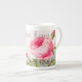 Antique Rose French Accent Mug Cup