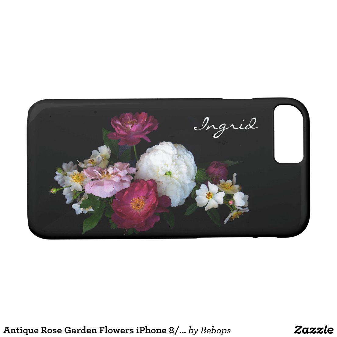 Antique Rose Garden Flowers iPhone 7 Case