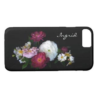 Antique Rose Garden Flowers iPhone 7 Case