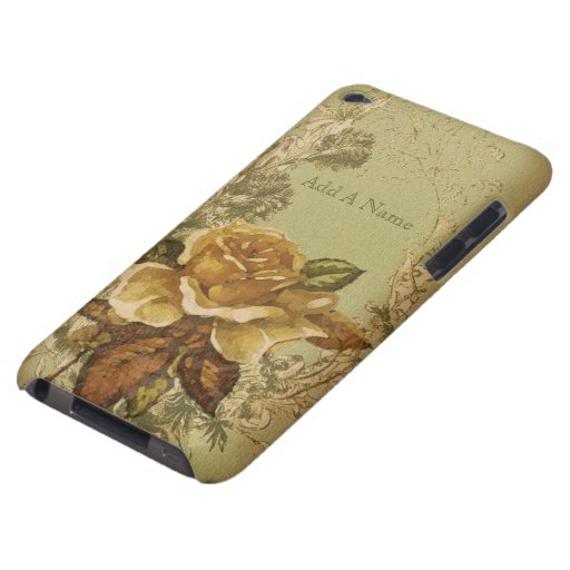 Antique Rose (green) iPod Touch Cover