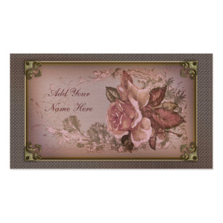 Antique Rose (new pink edition) Business Card Templates
