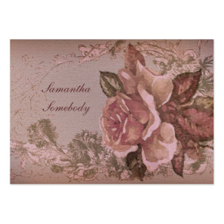 Antique Rose (pink) Miniature Postcard Large Business Cards (Pack Of 100)
