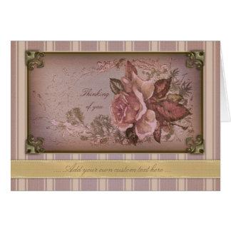 Antique Rose (pink) Notecard