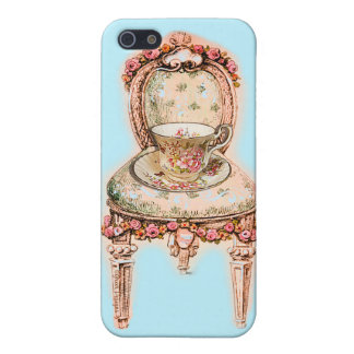 Antique Rose Teacup Tea Cup Chair Cover For iPhone SE/5/5s