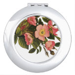 Antique Rose Vintage Flower Illustration Art Compact Mirror