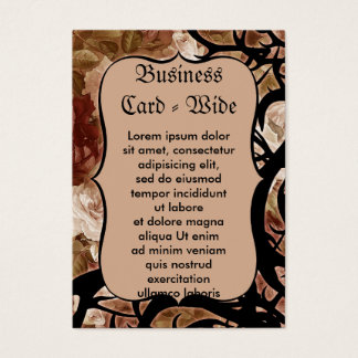 Antique Roses And Thorns Business Card