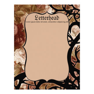 Antique Roses And Thorns Letterhead