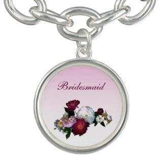 Antique Roses Flower Bridesmaid Bracelets