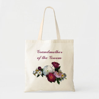 Antique Roses Grandmother of the Groom Canvas Bag