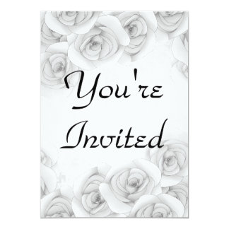 Antique roses invitations for your text