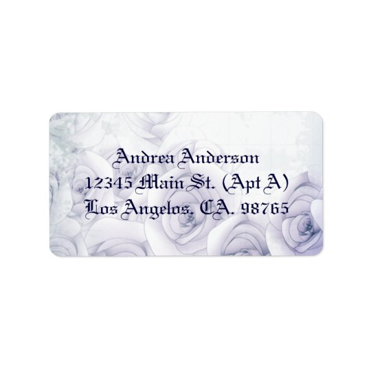 Antique roses label