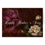Antique Roses Mother´s Day Greeting Card