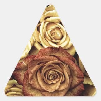 Antique Roses Photo Triangle Sticker