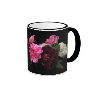 Antique Roses Ringer Mug