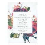 Antique Roses Vintage Boho Wedding Invitation