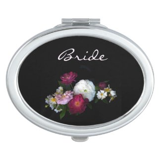 Antique Roses Wedding Bridal Compact Mirrors