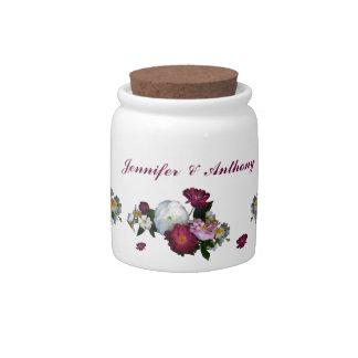 Antique Roses Wedding Candy Jar