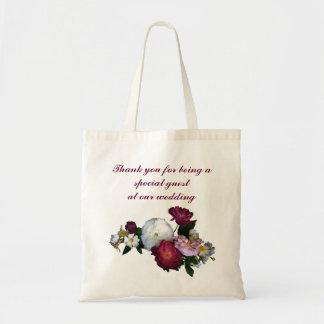 Antique Roses Wedding Favor Budget Tote Bag