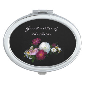 Antique Roses Wedding Grandmother of the Bride Compact Mirror