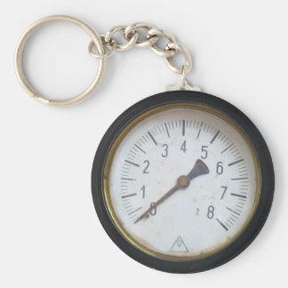 Antique Round Pressure Meter Gauge Keychain