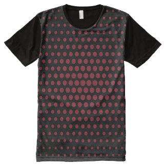 Antique ruby Techno Dots Modern Black All-Over Print T-shirt