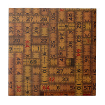 Antique Ruler Measured Pattern Ceramic Tile