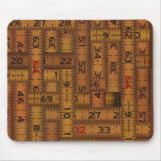 Antique Ruler Measured Pattern Mouse Pad