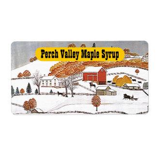 Antique Rural Pastoral Folk Art Label Farm Product Shipping Label