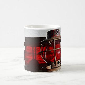 Antique Rustic Railroad Lantern Art Coffee Mug