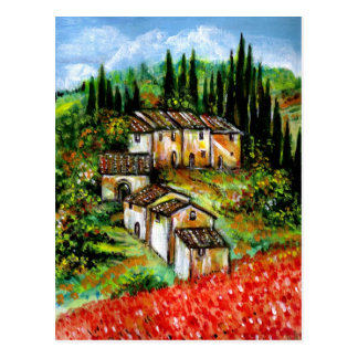 ANTIQUE RUSTIC VILLAGE IN TUSCANY POSTCARDS