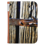 Antique Rustic Wood & Iron Metal Latch Photo Image Kindle 3G Case