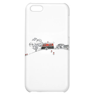 Antique RV Camper and Car Drawing iPhone 5C Cases