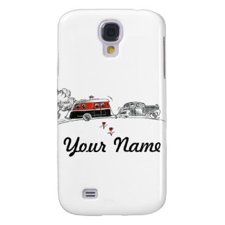 Antique RV Camper and Car Drawing Samsung Galaxy S4 Cover