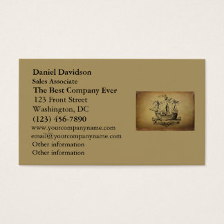Antique Sailing Ship Business Card