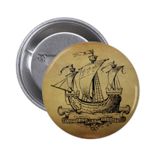 Antique Sailing Ship Buttons