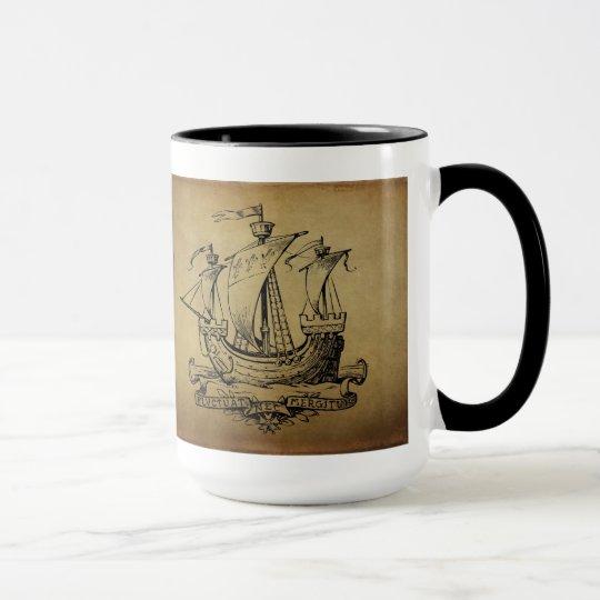 Antique Sailing Ship Mug