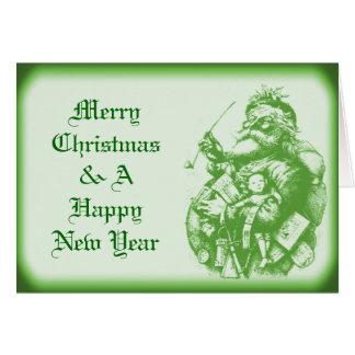 Antique Saint Nicholas Holiday Card Invitation